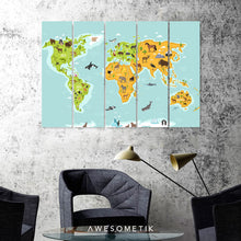 Load image into Gallery viewer, World Animal Kids Map