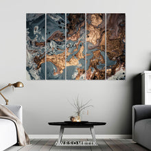 Load image into Gallery viewer, Gold Gray Marble