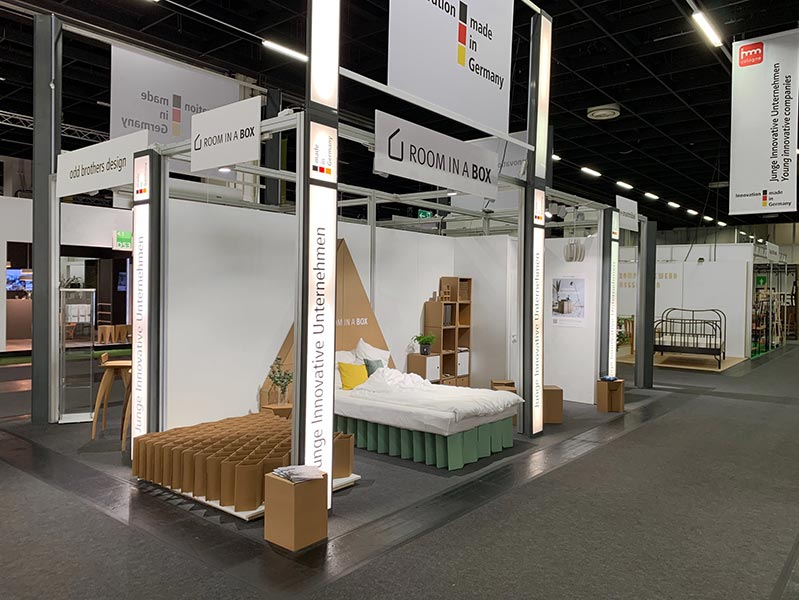 ROOM IN A BOX - MÖBEL AUS WELLPAPPE - AUF DER INTERNATIONALEN MÖBELMESSE IMM 2019 IN KÖLN
