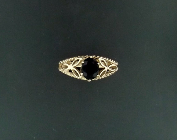 Celtic Knotwork Gemstone Ring in Antique Bronze