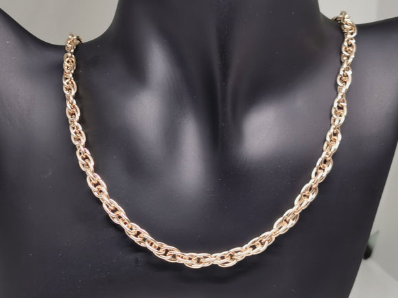 Large Antique Bronze 5.6mm Rope Chain made to order