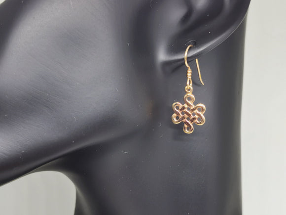 Gold Endless Knot Earrings Made to Order