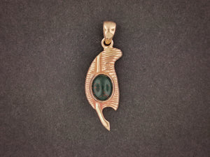 Bronze Feather of Ma-at Pendant