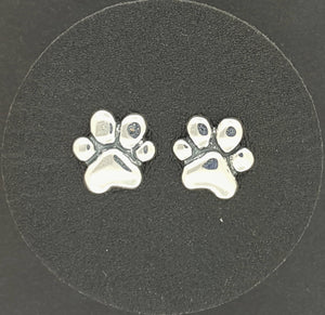 Gold Paw Print Stud Earrings Made To Order