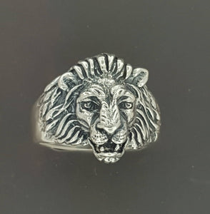 1950s Vintage Style Classic Lion Ring in Sterling Silver or Antique Bronze