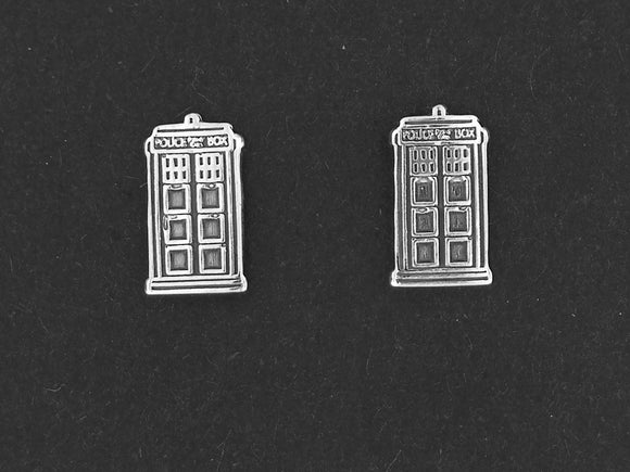 Gold Dr Who Tardis Earrings made to order
