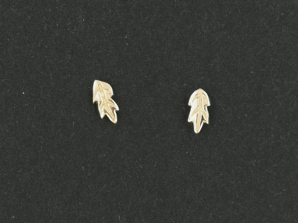 Gold Oak Leaves Studs made to order