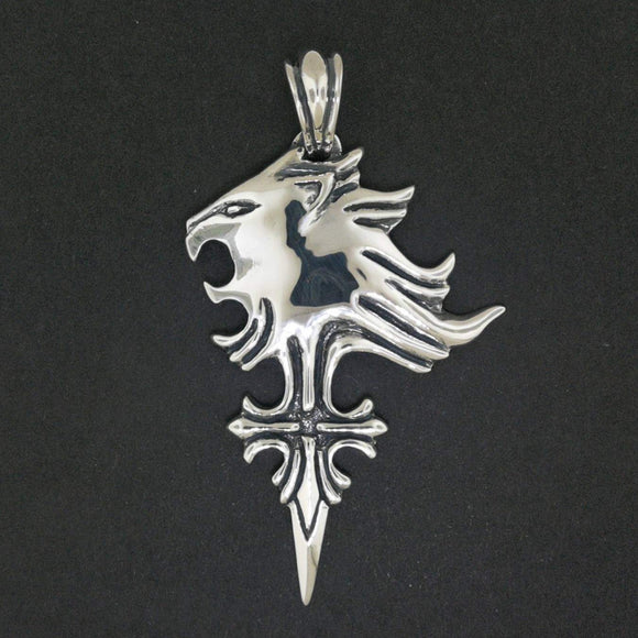 Final Fantasy 8 Griever Pendant in Sterling Silver or Antique Bronze