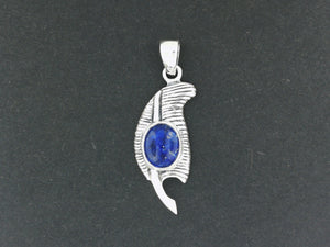Feather of Ma'at Pendant in Sterling Silver