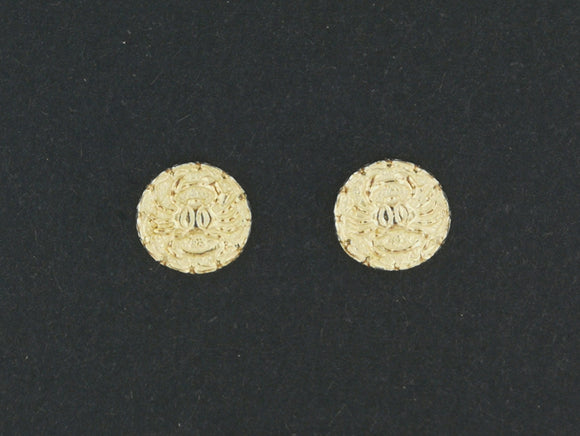 Gold Zodiac Stud Earrings Cancer Made to Order