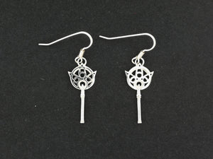 Gold FFX Yuna's Wand Earrings Made to Order