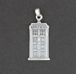 Handmade Tardis Charm Pendant from Dr Who
