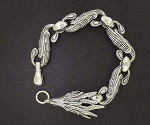 Chinese Phoenix Bracelet in Sterling Silver or Antique Bronze made to order