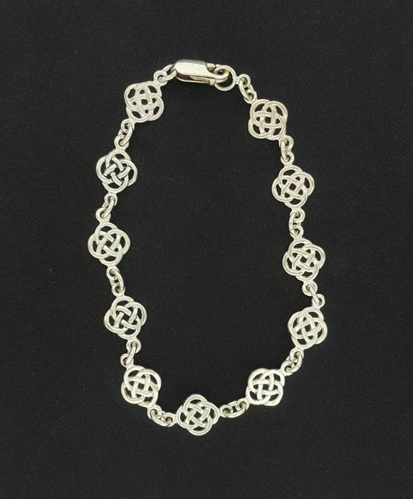 Endless Knot Bracelet in Sterling Silver or Antique Bronze