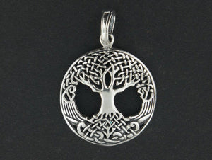 Celtic Tree of Life Pendant in Sterling Silver or Antique Bronze