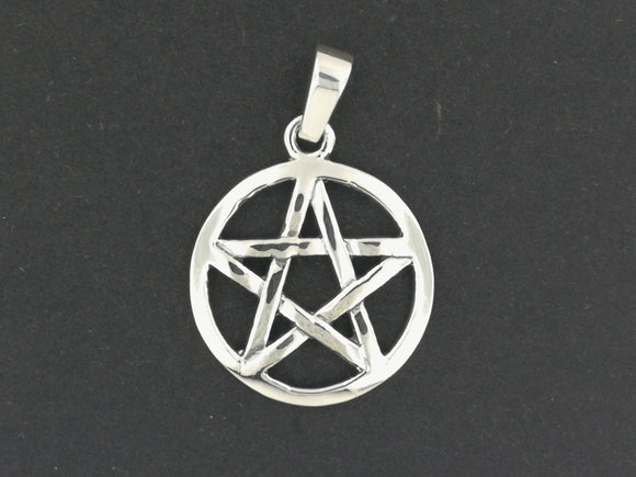 Medium Pentacle Pendant in Sterling Silver or Antique Bronze