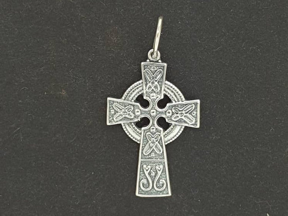 Small Celtic Cross in Sterling Silver or Antique Bronze