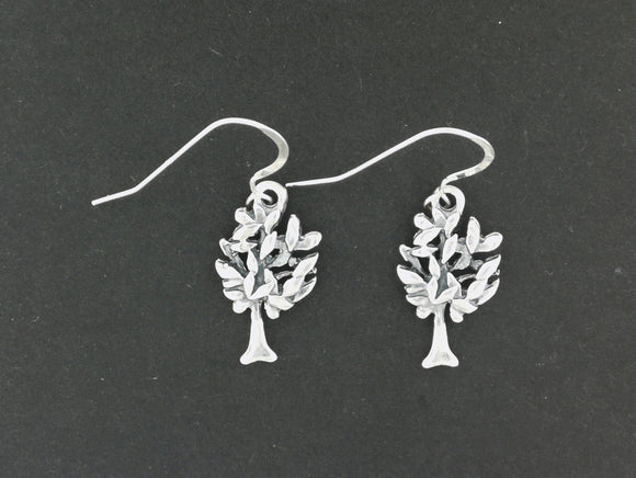 Tree Dangle Earrings in Sterling Silver or Antique Bronze
