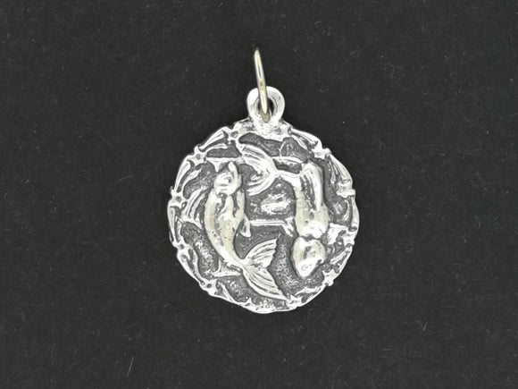 Zodiac Medallion Pieces in Sterling Silver or Antique Bronze