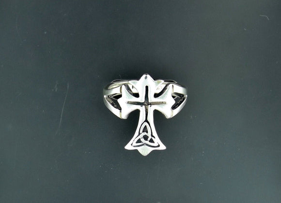 Celtic Cross Ring in Sterling Silver or Antique Bronze