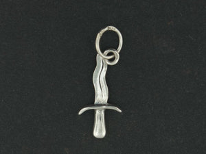 Small Knife Charm in Sterling Silver or Antique Bronze