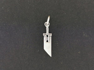 FF7 Small Buster Sword Charm in Sterling Silver or Antique Bronze
