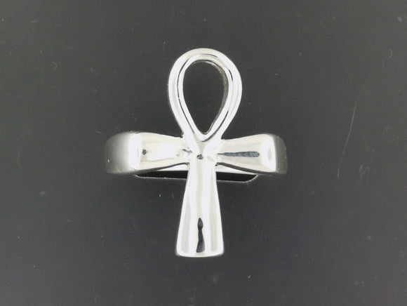 Large Ankh Ring in Sterling Silver or Antique Bronze
