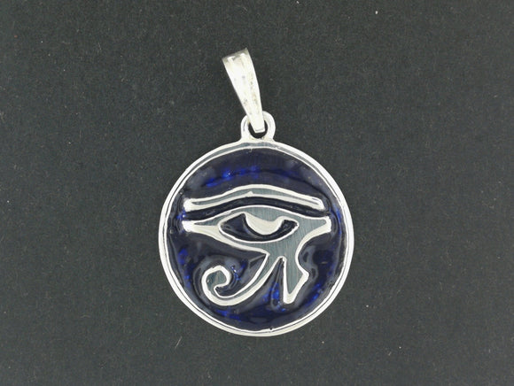 Eye of Horus Medallion in Sterling Silver