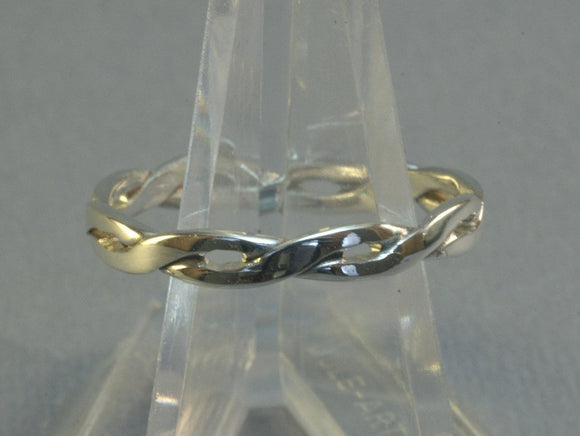 Simple Braid Ring in Sterling Silver or Antique Bronze