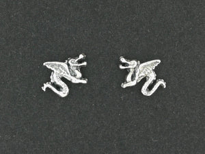 Dragon Stud Earrings in Sterling Silver