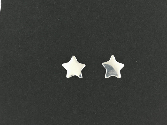 Handmade Star Stud Earrings in Sterling Silver