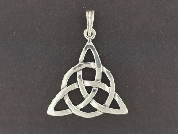 Large Triquetra Pendant in Sterling Silver or Antique Bronze