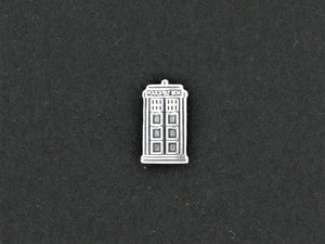 Gold Dr Who Tardis Single Stud  Earring made to order