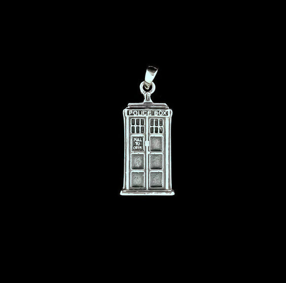 Gold Tardis Pendant Made to Order