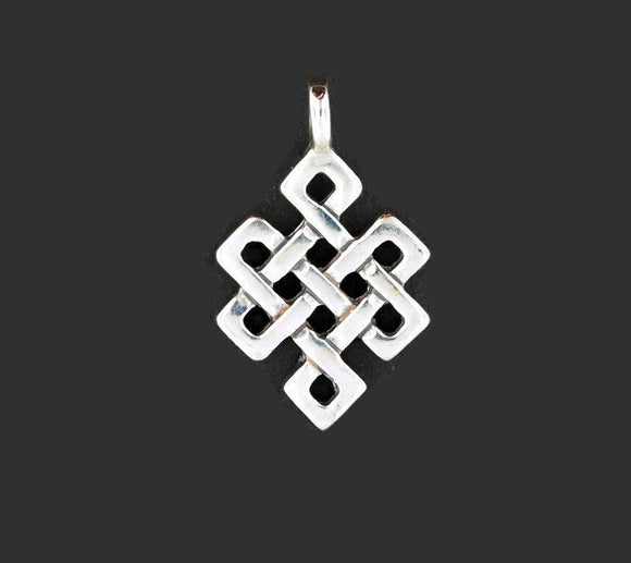 Endless Knot Pendant in Sterling Silver or Antique Bronze