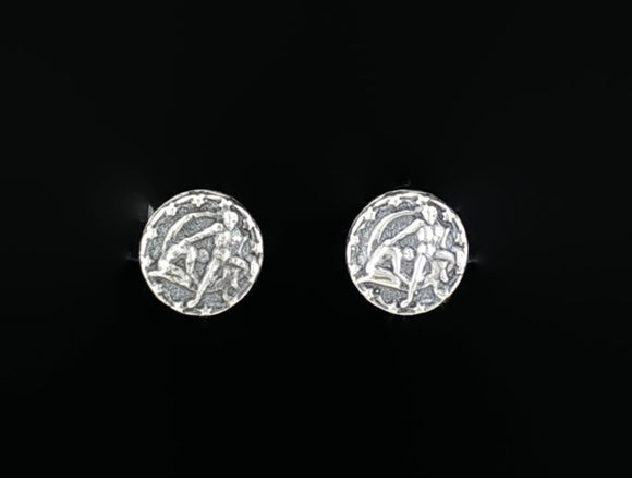 Sterling Silver Zodiac Stud Earrings Gemini