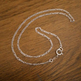 Sterling silver figgaro chain made to order