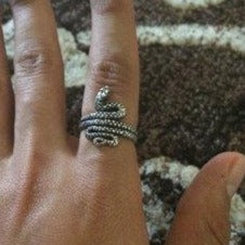 Coiled Snake Ring in Sterling Silver or Antique Bronze