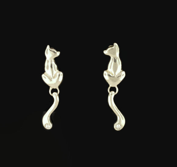 Final Fantasy XIII-2 Sarah Cat Earrings in gold Made to Order