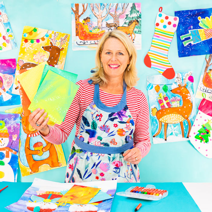 Making Painted Paper at Home with Miss Patty from Primerry | Online Art Classes for Kids