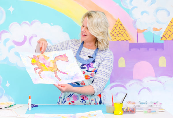 Primerry art club for kids with Fancy Unicorn episode