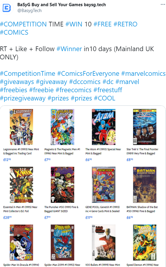 COMPETION TIME! - 10 FREE Comics for one lucky Winner (UK Only)