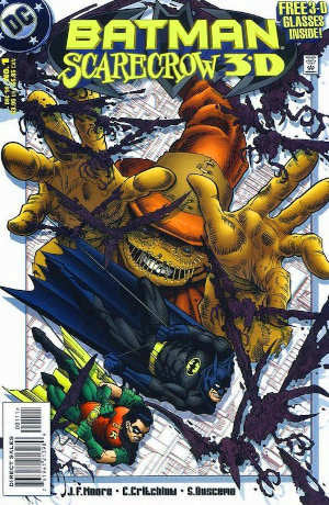 Cover for Batman Scarecrow 3D issue 1 including 3D glasses sold by BASYG
