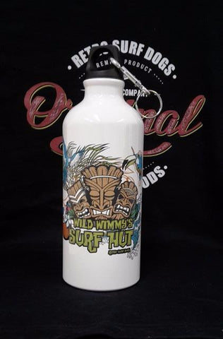 Wild Wimmy's Surf Hut,  Aluminium Water Bottle 600ml C/W 2 Cap Styles