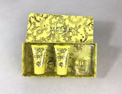 Versace Yellow Diamond Gift Set -Eau De Toilette Spray + Body Lotion + Shower Gel for Women
