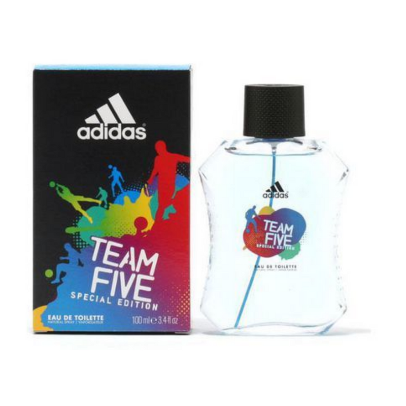 Adidas Team Five 100ml Eau De Toilette Spray for Men