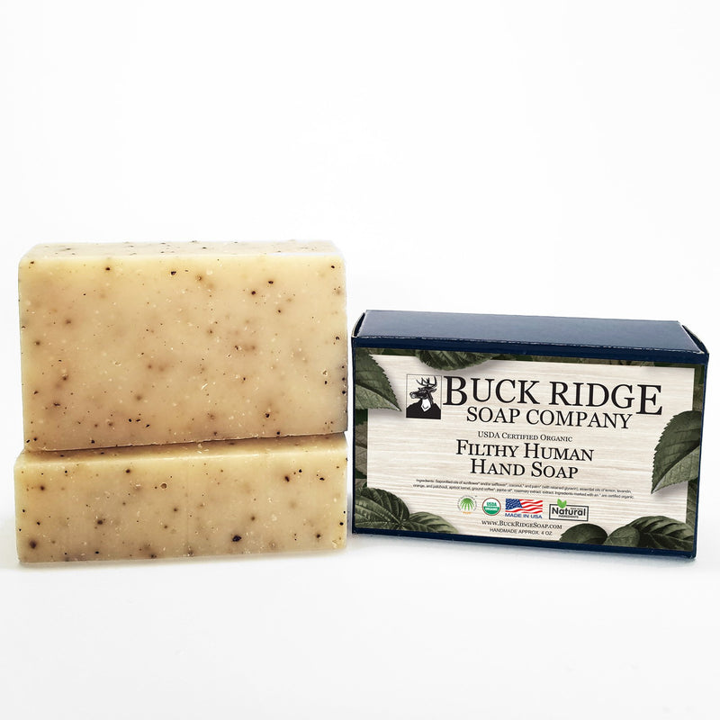 Buck Ridge Soap Company Filthy Human Men's Handmade Soap - USDA Certified Organic