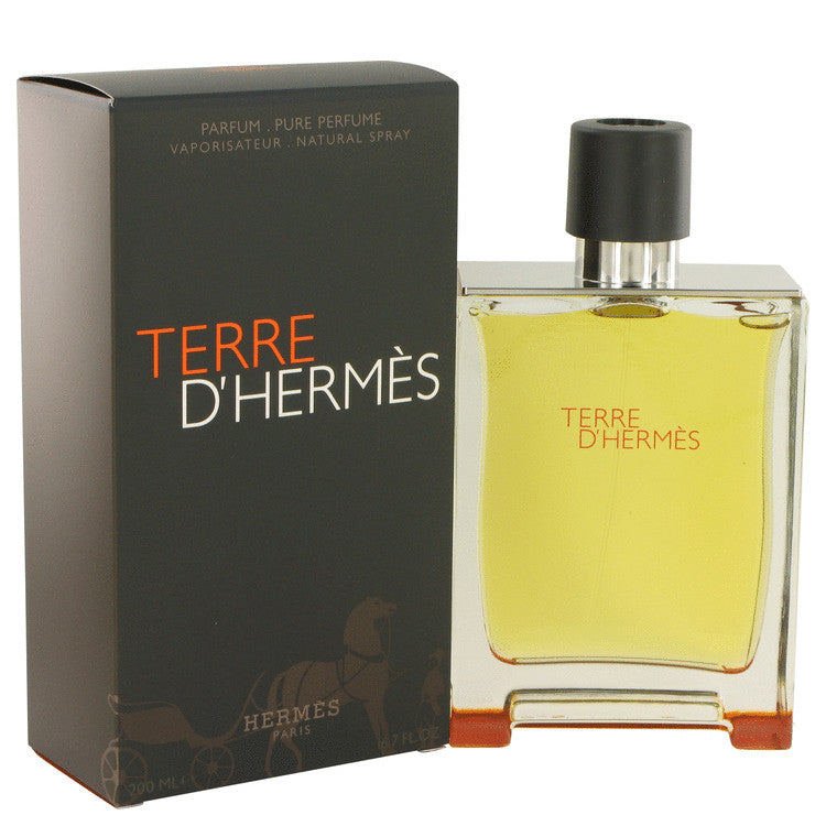 Terre D'Hermes by Hermes Pure Perfume Spray 6.7 oz for Men