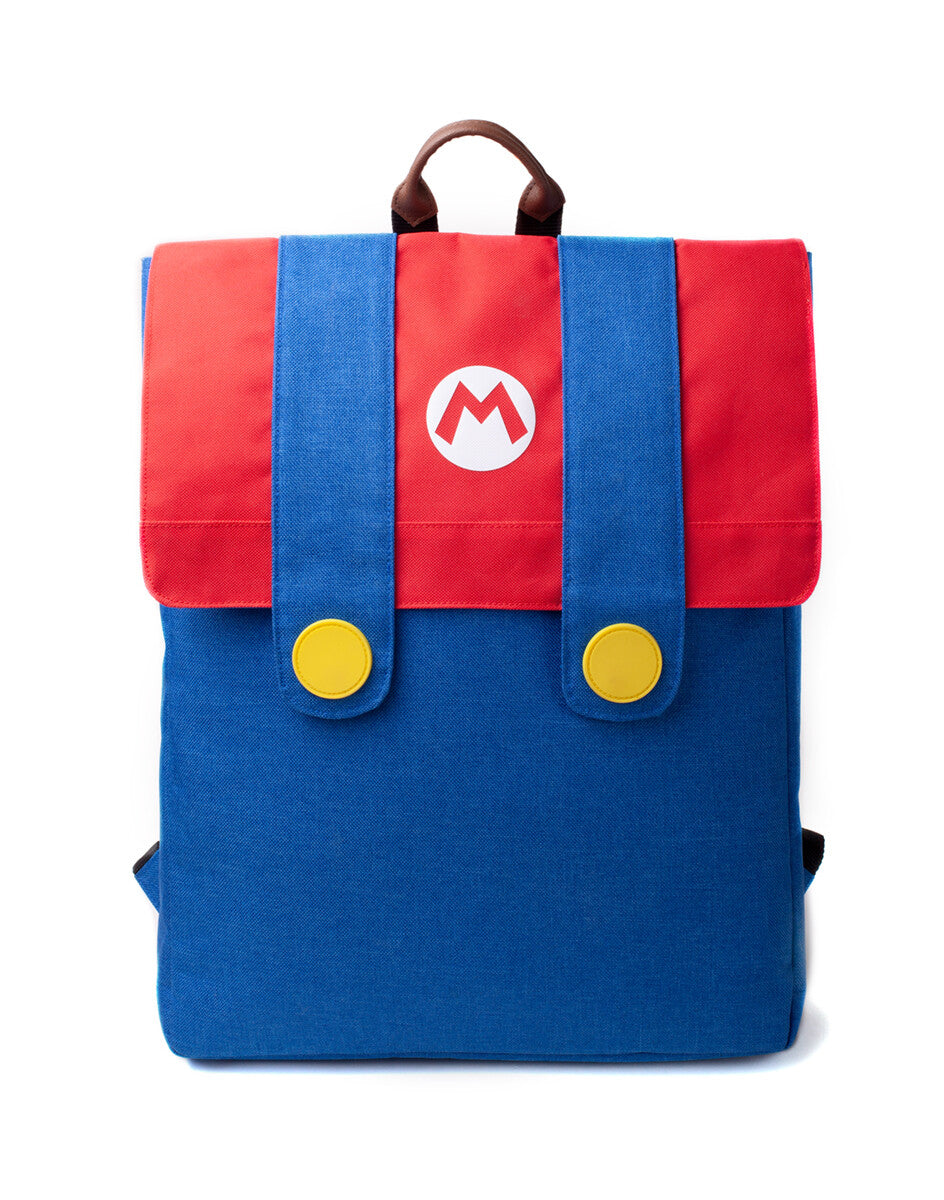 Zaino Super Mario: Mario Denim Suit Flap Backpack