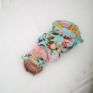 Tuscan Teal Swaddle Headband Set - FINAL SALE